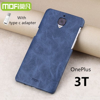 Oneplus 3T case oneplus 3T cover MOFi original oneplus 3 A3010 accessories leather case back cover hard capa cuque funda 5.5""