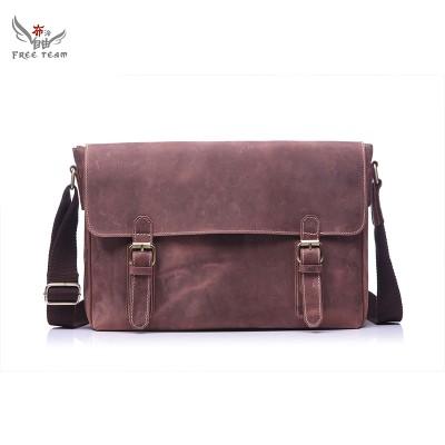 Hotselling Men Bags Genuine Leather shoulder bag Men Crazy Horse Leather Messenger Bags crossbody bags Briefcase GF-093