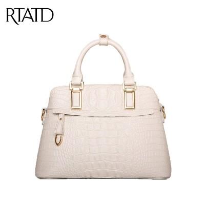 New 2019 Women Crocodile Tote Bag Fashion Genuine Real Leather Handbags Shell Shape Elegant Ladies Shoulder Crossbody Bags pc083