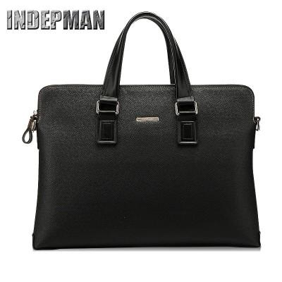 Hot Sale 2019 Business Briefcase Famous Brand Genuine Leather Laptop Bag for 14 Inch Waterproof Purse Shoulder Bag Messenger Bag