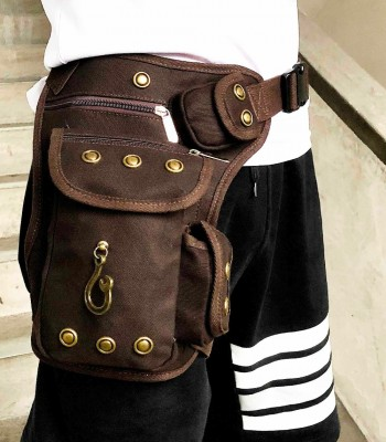 Steampunk Motorcycle Vintage Men/women Fanny Waist Pack Leg Bag
