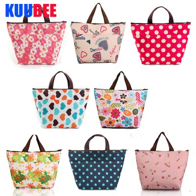 50PcsLot Lunch Bags Fashion Print Oxford Waterproof Outdoor Camping Thermal Cooler Bag Picnic Baskets Bags Camping Equipment
