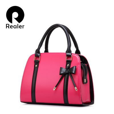 Women leather handbag bowknot shoulder bag evening party tote bags handbags women famous brands messenger bag bolsa feminina