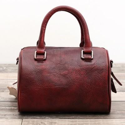 Designer Leather Handbag First Layer Cow Retro Women Pillow Shoulder Messenger Bag Vintage Solid Totes Handbags  Crossbody Bags