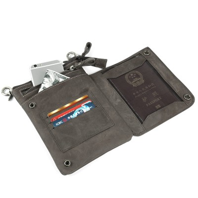 Fashion Retro Crazy Horse Genuine Leather man bag Top quality chest pack small bag crossbody Shoulder bag waist packs