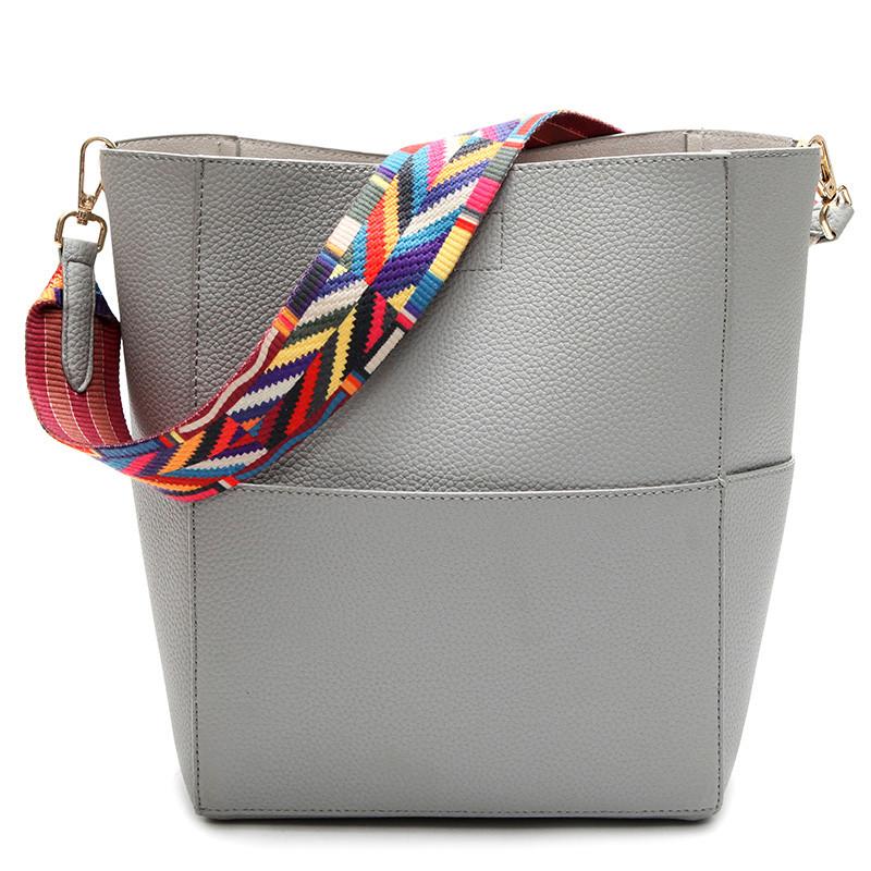 ced0f3ca1795 ... Vintage Satchel Bag Pu Leather Gray Crossbody Shoulder Bags. Image 1