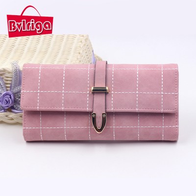 BVLRIGA Long wallet women luxury brand purse women wallets leather wallet nubuck card holder purses and handbags new clutch bag