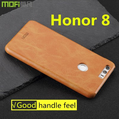 Huawei honor 8 case MOFi original Huawei honor 8 cover back case hard PU leather capa coque funda accessories navy blue 5.2 inch Phone Cases For huawei