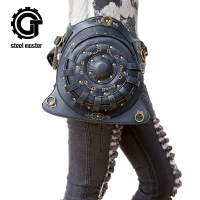 Steelsir Steam Punk Mobile Phone Mini Shoulder Backpack Gothic Messenger Fashion Multifunction Unisex Travel Rock Waist Bags
