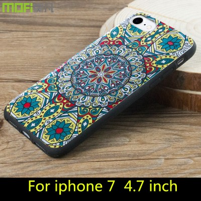 Phone Cases For iphone For iphone 7 case cover MOFi original for iphone 7 plus case cover soft back case cartoon flower colorful cute bohemia pattern
