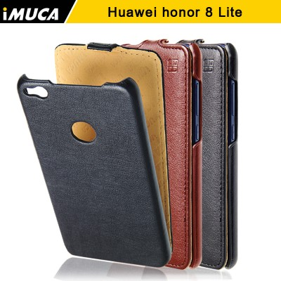 Huawei Honor 8 lite Phone Case Cover iMUCA Flip Cover PU Leather Case Capa For Huawei Honor 8 lite Huawei Nova Lite Cover Phone Case