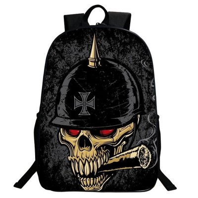 Gothic Backpacks 2017 New Gothic Punk Skull Backpack 3D Printing Vintage Teenager Student Backpack Schoolbag Large Women Men Nylon Rucksack Bag