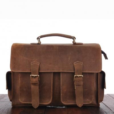 100% genuine leather Antique man crazy horse leather messenger bag bag leather Crossbody handbag XY467