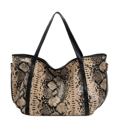 Woman Bags 2017 Bag Handbag Fashion Handbags Genuine Leather Soft Serpentine Casual Cow Large Shoulder Bolsas Feminina Designer