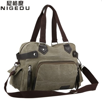 2019 NEW Leisure canvas bag High quality canvas shoulder bag men travel bags men's handbag large bolsas femininas