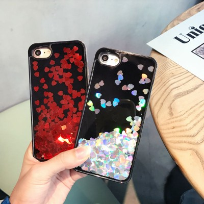 cartoon phone cases Love heart For iPhone 7 7 plus Dynamic Glitter Stars Dynamic Liquid Cartoon Phone Cases Cover For iphone 6S 6 Plus cartoon cases
