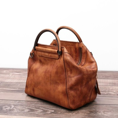 2019 New Handmade Hobos Genuine Leather Soft Vintage Women Handbag Shoudler Messenger Bag Real Cowhide Feminina Hobo Totes