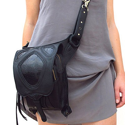 Hiqh Quality New Women Lady Waist Fanny Leg Bag Drop Belt Hip Bum Motorcycle Punk Rock Tassel Crossbody Messenger Shoulder Pack