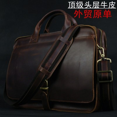 Luxury Genuine Leather Briefcase Men Briefcase Leather Laptop Bag portfolio men Business bag male brief case document office bag