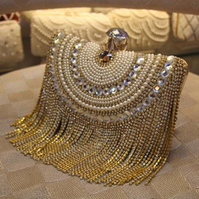 2017 Diamond Studded Long Tassel bag Ladies Evening Bag Shoulder Chain Bag Party Banquet Evening Clutch Bags Day Clutches