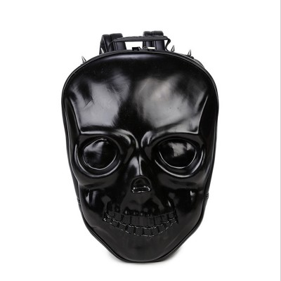 Halloween Skull Bags 2019 Gothic Steampunk Unique backpack cool bag steampunk fashion 3D Backpack Silver Gold Black Hand Bag Shoulders Bag PU Leather Fashion Bag