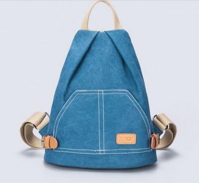 Vintage Women's Small Mini Backpack Casual Canvas Rucksack Travel Knapsack Bag