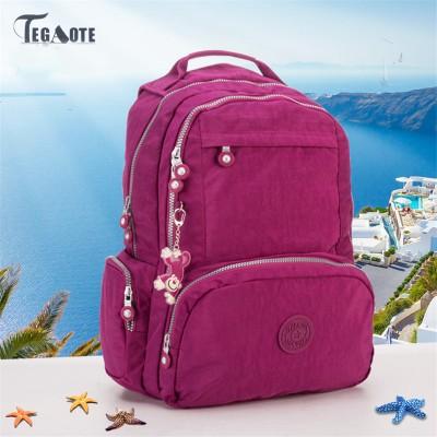TEGAOTE Women Backpack for Teenager Girls Kipled Mochilas Feminina Nylon Waterproof  Female Travel Bagpack Schoolbag Sac A Dos