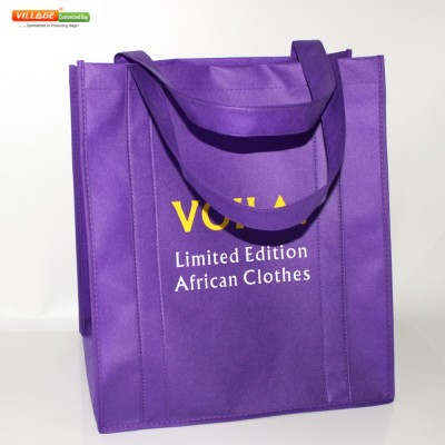 Personalized Large Reusable Bags Grocery Tote Shopping Bags With Printed Logo