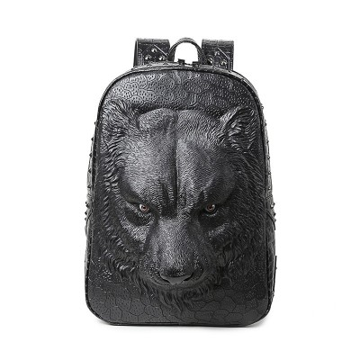 Gothic Steampunk Unique backpack cool bag steampunk fashion 3D Tiger Animal Backpack Women Men Laptop Backpack PU Leather Backpacks Fashion Travel School Computer Rivet Bags for boys girls