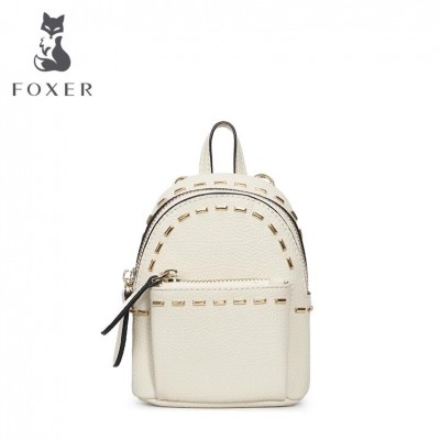 Brand 2019 New leather bags women famous brands designer fashion chains mini backpack simple rivet women backpack