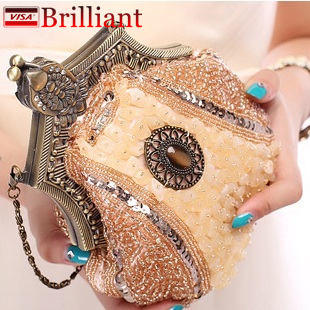 2da7cf994718 Handmade Vintage women clutch Evening Bags Stone style Beaded Delicate  Banquet Wedding Party bag purses and handbags 10 Color H1