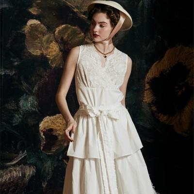 Dress Summer Sling Two-piece Women Cotton Dress Sleepwear Ladies Nightgown Set Can be worn on the street Stylish nightgown