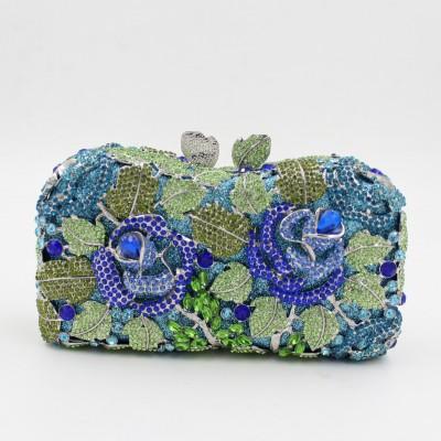Evening Bags Ladies Wedding Party Bag Crystal Flowers Gold Handbag Shoulder Dinner Clutch Women Luxury Diamonds Lady Purses