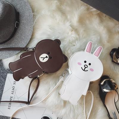 fashion new brand womens crossbody bag ladies shoulder bag purse phone coins bag cute rabbit bear shape wholesale