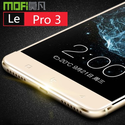 Letv pro 3 glass MOFi original LeEco Le pro 3 X720 full cover tempered glass leEco pro 3 screen protector rose gold 5.5 inch