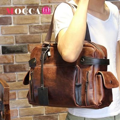 Original Design Men Leather Handbags Tassel Men Crazy Horse Leather Messenger Bags Shoulder Bag Briefcase Hotselling Tote Bag