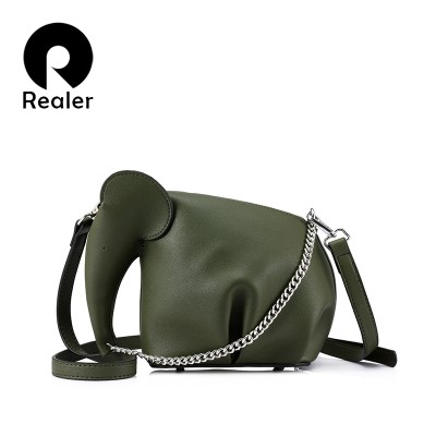 REALER brand new design fashion women small elephant crossbody bag female mini handbag ladies messenger bag