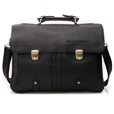 Cowhide Genuine Leather Messenger Tote Bags Business 16 Inch Laptop Briefcase Lichee Japanese Vintage Handmade Shoulder Bag 2060