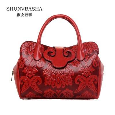 New Design Chinese Element Women Fashion Vintage Handbags Ladies High Quality Luxury Casual Tote Crossbody Pu Leather Bags