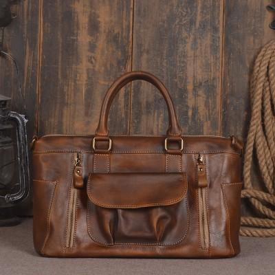 Shoulder Messenger Bags Retro Genuine Leather Lady Female Fashion Women Vintage Style Hand Bag Laptop  Designer Leather Handbag