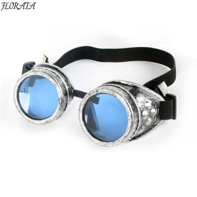 2019 fashion new vintage sunglasses old Silver womens sunglasses man  Steampunk 5 color Gothic Retro Style Goggles colorful Lens