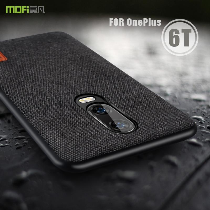 Oneplus 6t Case Cover MOFI OnePlus 6T Phone Case Back Fabric Case