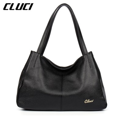 CLUCI Luxury Handbags Genuine Leather Hobo Bag Elegant Vintage Soft Casual Tote Top-handle Shoulder Bags Original Design Totes