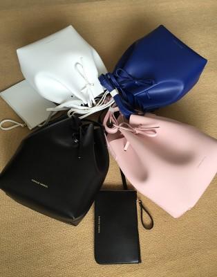 Newest Mansur bucket bag Gavriel women genuine leather hand bag Gavriel real leathe shoulder bag Logo printed