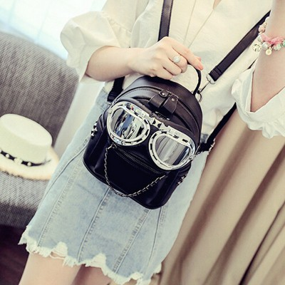 Lovely Mini backpack Fashion Women Eyes Decoration Shoulder Girl Casual Small Backpack Rivet Bag