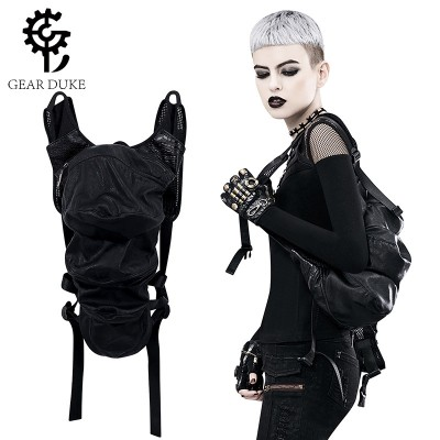 Custom Steampunk Insects Backpack Black Shoulder Bag