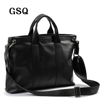 78b6822623b5 2017 GSQ Men Messenger Bags Leather Bag Men Briefcase 14  Computer Bags  Fashion Handbags High Quality Famous Brand ...