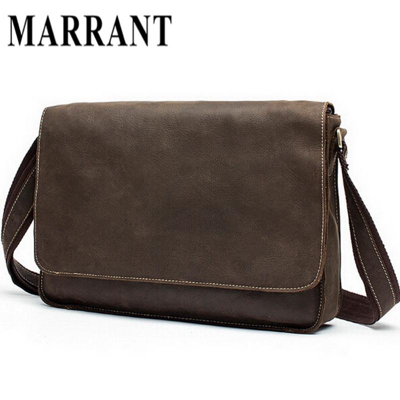 a6c16020a0be Guaranteed Crazy Horse Leather Men s Briefcase men messenger bags Business  travel bag man leather vintage man shoulder bag 2015