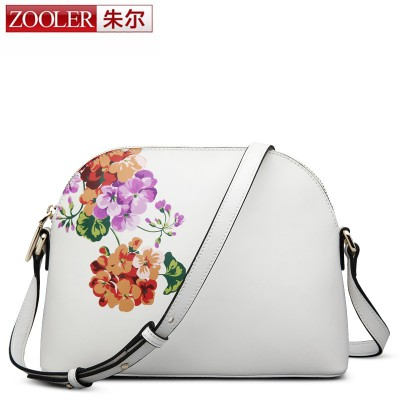 Zooler cowhide leather new listed women messenger bags genuine leather bag Classic cross body shell bag