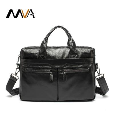 MVA Genuine Leather Men Bag Shoulder Vintage Leather Men's Black Zipper Briefcase Laptop Bag Men Messenger Bags Handbag Totes